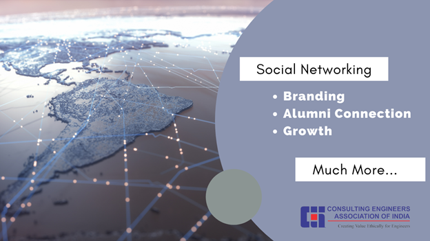 Consulting Engineers Association of India shares the different benefits for using Social Networking sites for Consulting Engineers and they should be active on Social Networks for their career betterment. Consulting Engineers Association of India also known as CEAI is a member organization of FIDIC.